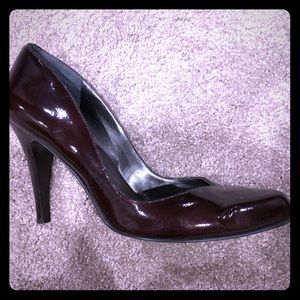 Deep maroon (almost brown) heels
